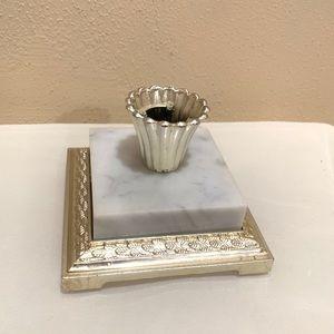 Vintage marble candle stick holder